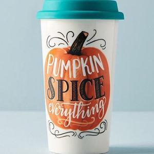 NEW Anthropologie Pumpkin Spice Everything Tumbler